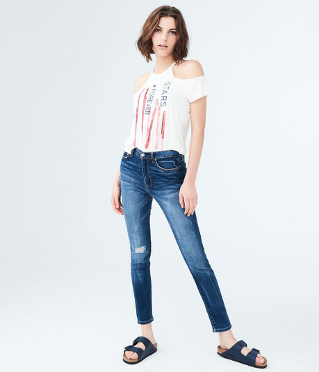Americana Cold-Shoulder Tee