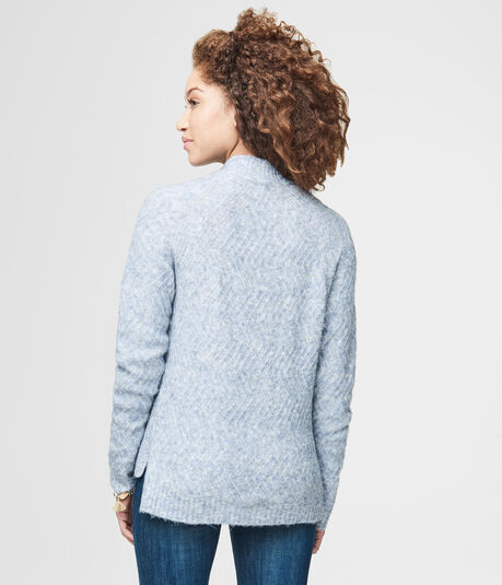 Zig-Zag Mock-Neck Sweater
