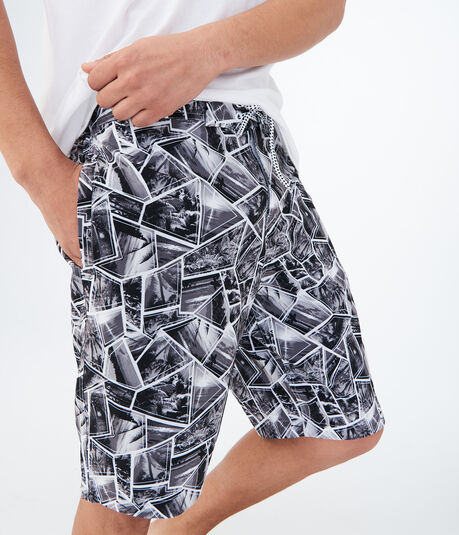 Island Scenes Stretch Boardshorts