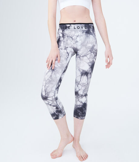 LLD Tie-Dye Seamless Crop Leggings