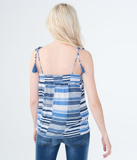 Striped Tassel Tank