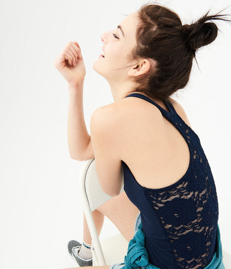 Solid Lace Racerback Tank