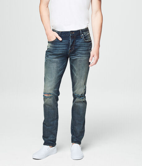 Skinny Destroyed Dark Wash Reflex Jean