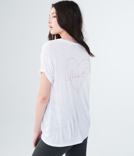 LLD Best Heart Slash Graphic Tee