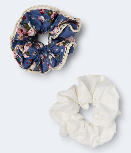 Floral Scrunchie 2-Pack