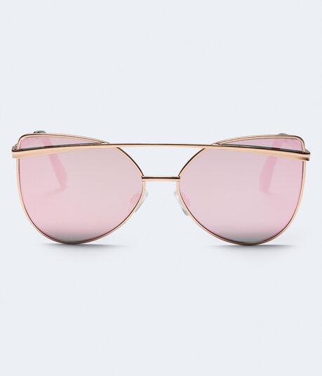 Geometric Flat-Lens Sunglasses