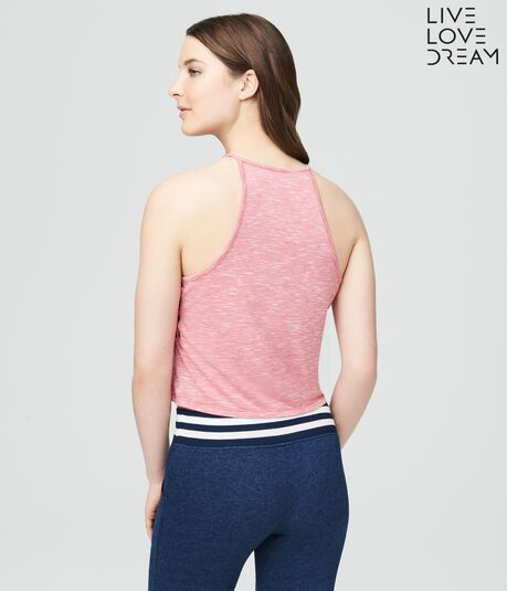 LLD Lace-Up Sides Crop Tank