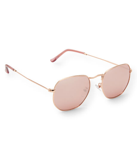 Tonal Round Metal Sunglasses