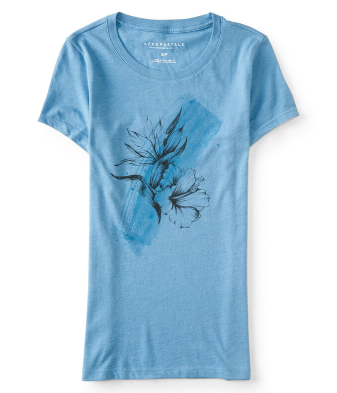 Hibiscus Painting Graphic Tee