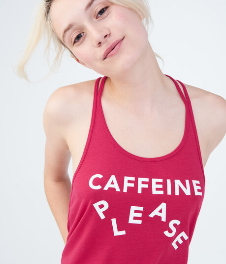 LLD Caffeine Please Graphic Tank