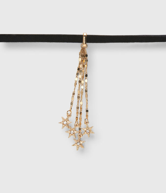 Faux Suede Stars Choker Short-Strand Necklace