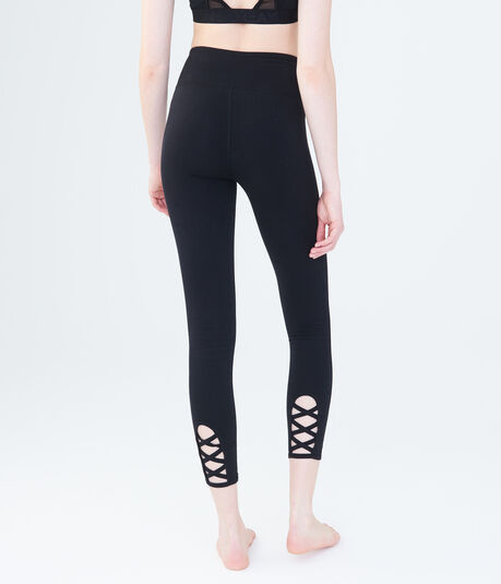 LLD High-Waisted Lace-Up Leggings
