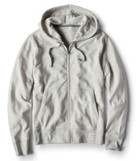 Heathered Full-Zip Hoodie