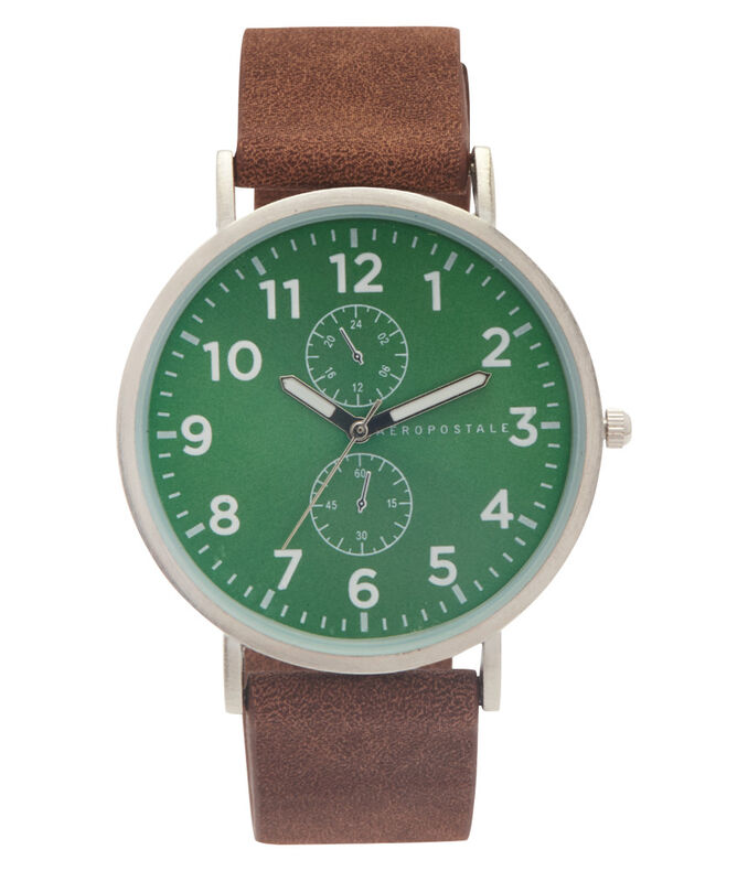 Colored-Face Analog Watch