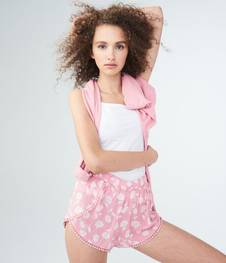 LLD Floral Crocheted Sleep Shorts