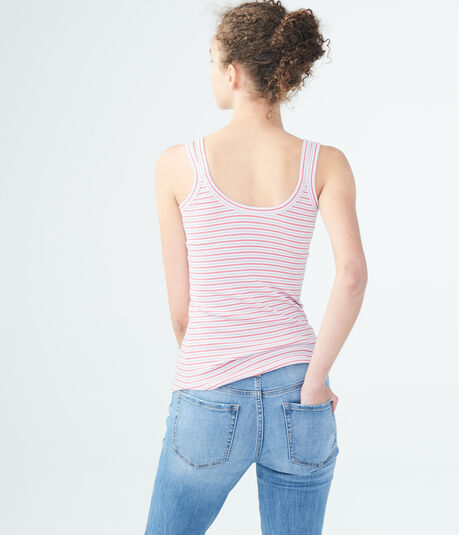 Striped Ribbed Double-Strap Tank