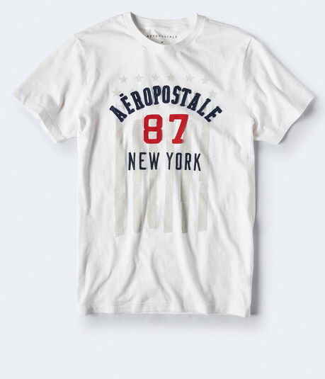 Aeropostale 87 Flag Graphic Tee