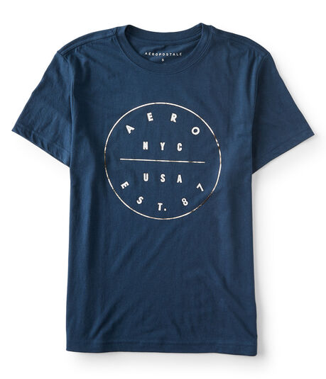 Aero NYC USA Circle Graphic Tee