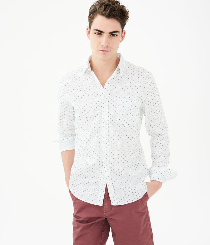 Long Sleeve Mini Waves Woven Shirt