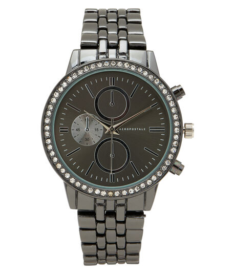 Metal Rhinestone Analog Watch