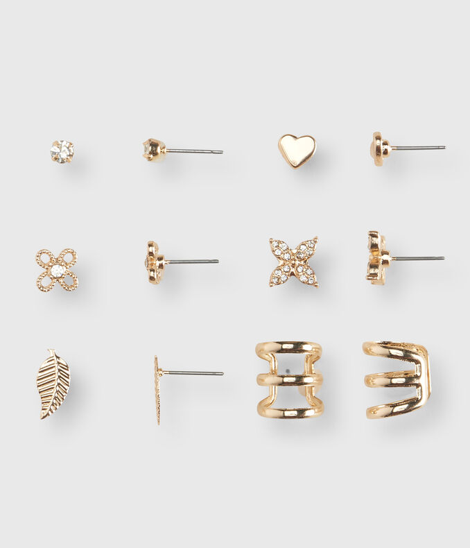 Flower Stud Earring 6-Pack