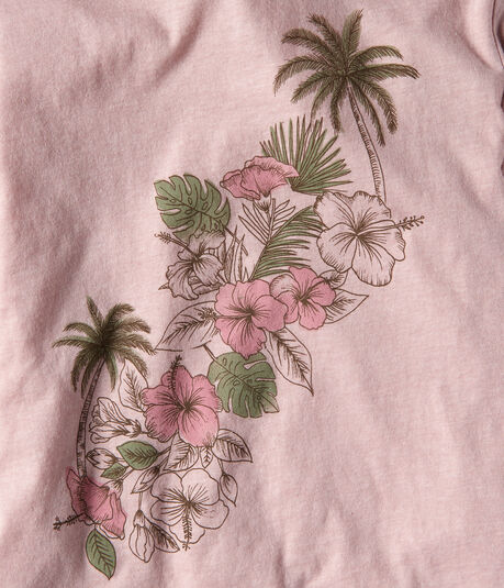 Hibiscus Palm Graphic Tee