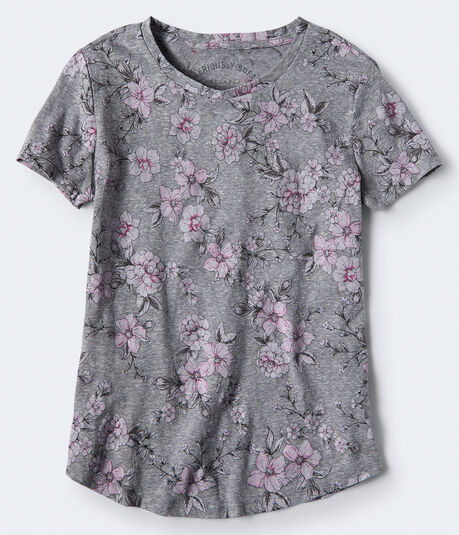 Seriously Soft Floral Scoop-Neck Tee