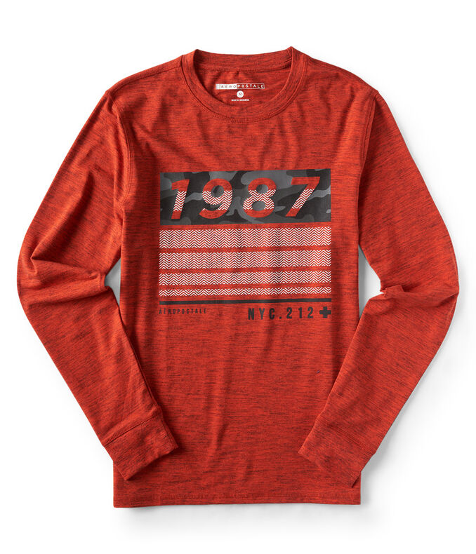 Long Sleeve Aero 1987 Stretch Graphic Tee