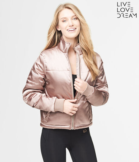 LLD Metallic Sateen Bomber Jacket