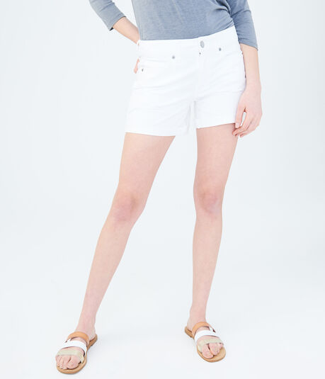 Bleach Wash Tomboy Denim Shorts