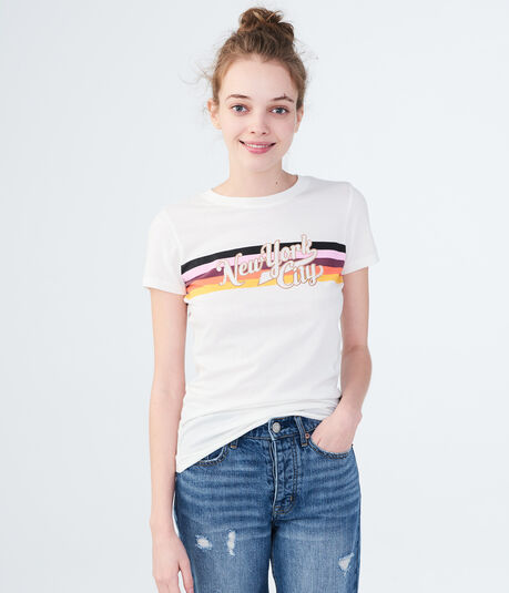 Free State New York City Stripe Graphic Tee