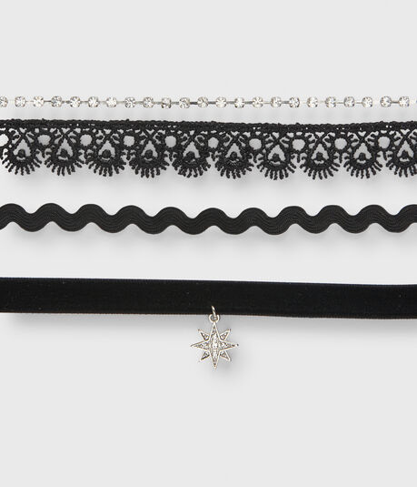 Lace Choker Short-Strand Necklace 3-Pack