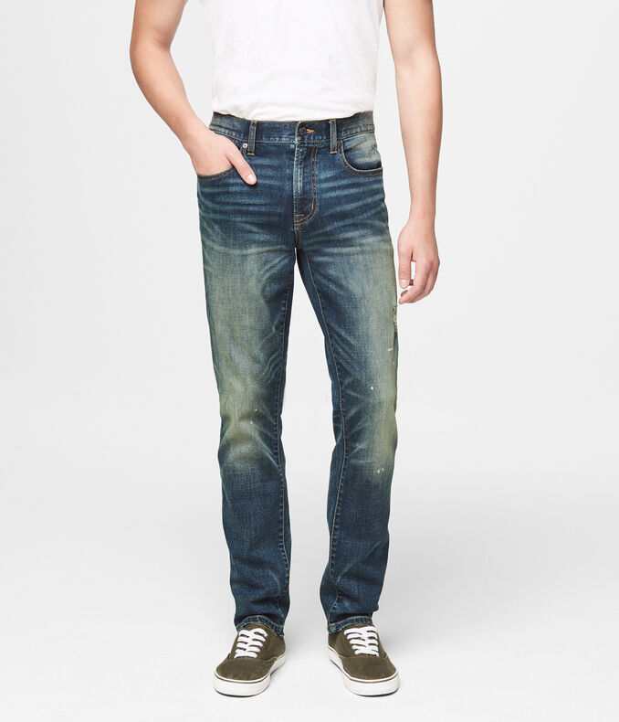 Super Skinny Dirty Indigo Dark Wash Reflex Jean