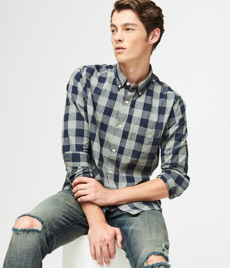 Button Down Shirts for Teen Boys & Men | Aeropostale