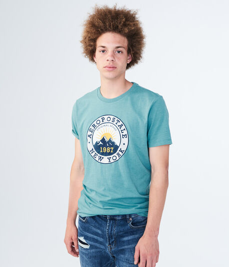 Aero Mountain Peaks Graphic Tee