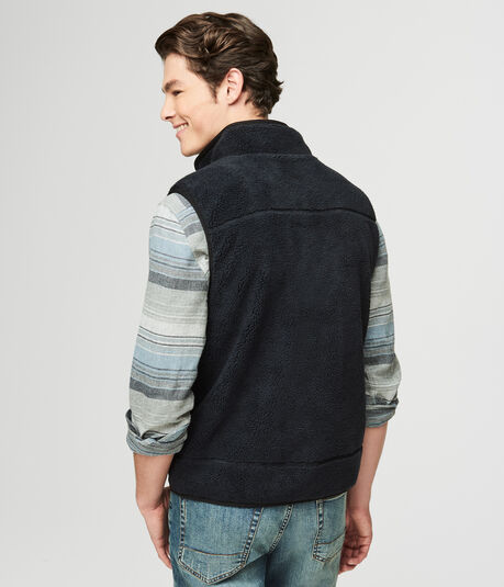 Fuzzy Fleece Vest