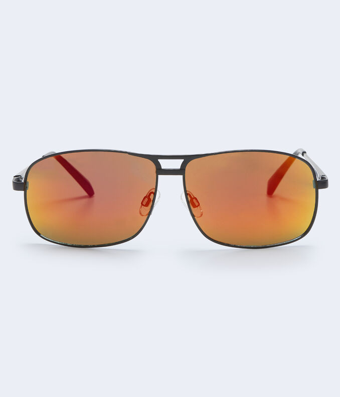 Mirrored Navigator Sunglasses