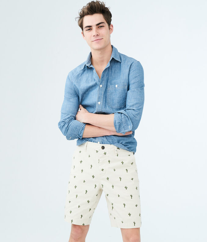Cactus Stretch Flat-Front Chino Shorts