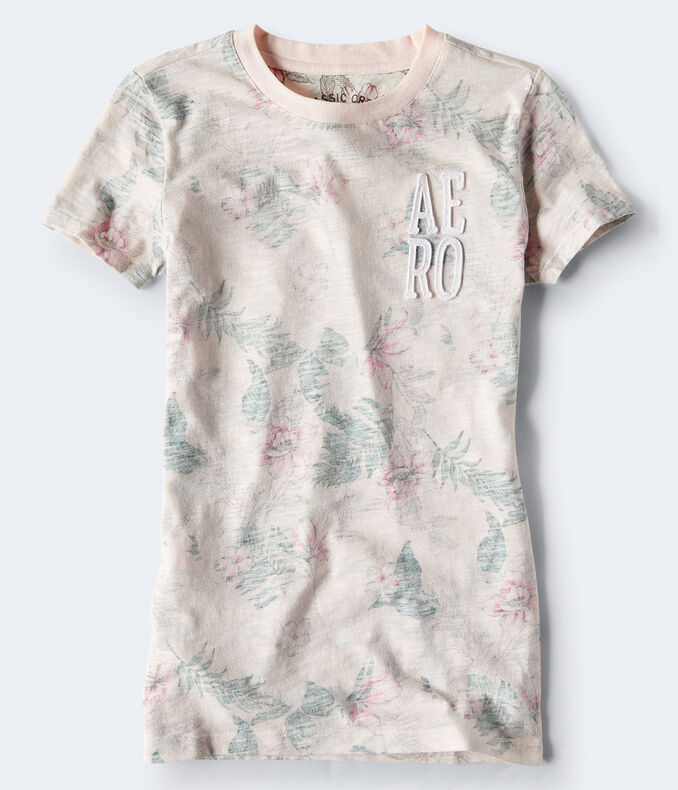 Stacked Aero Floral Graphic Tee by Aeropostale