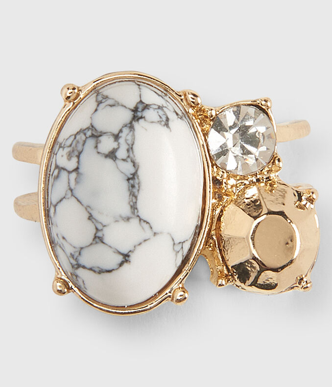 Marbled Statement Ring
