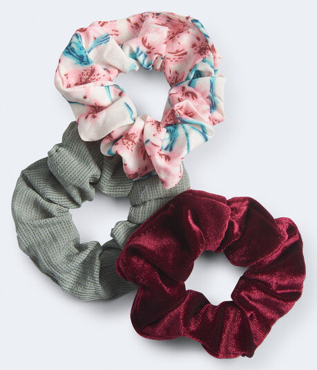 Solid & Patterned Scrunchie 3-Pack