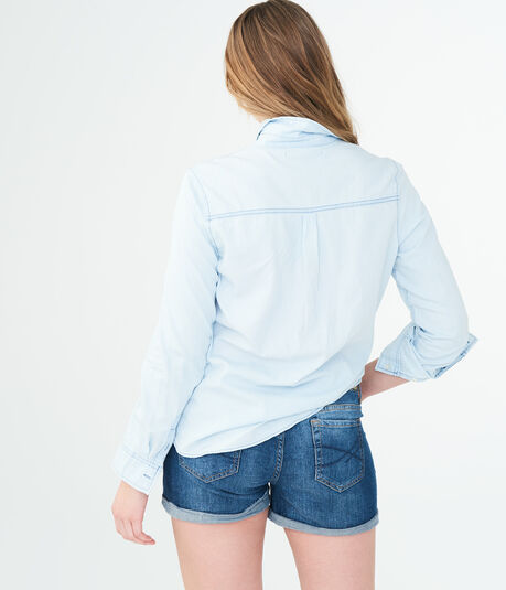 Light Wash Chambray Button Down