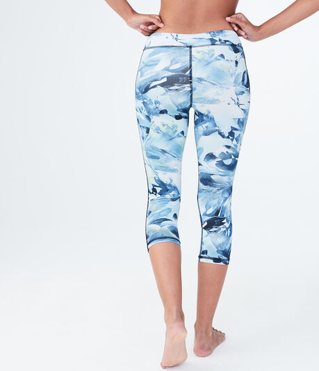 LLD Abstract Floral Crop Leggings
