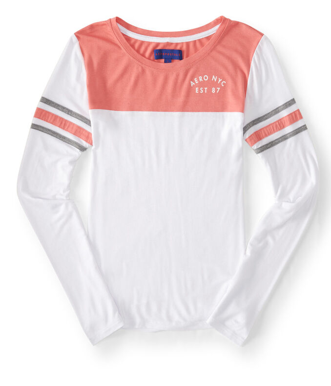 Long Sleeve Logo Football Tee
