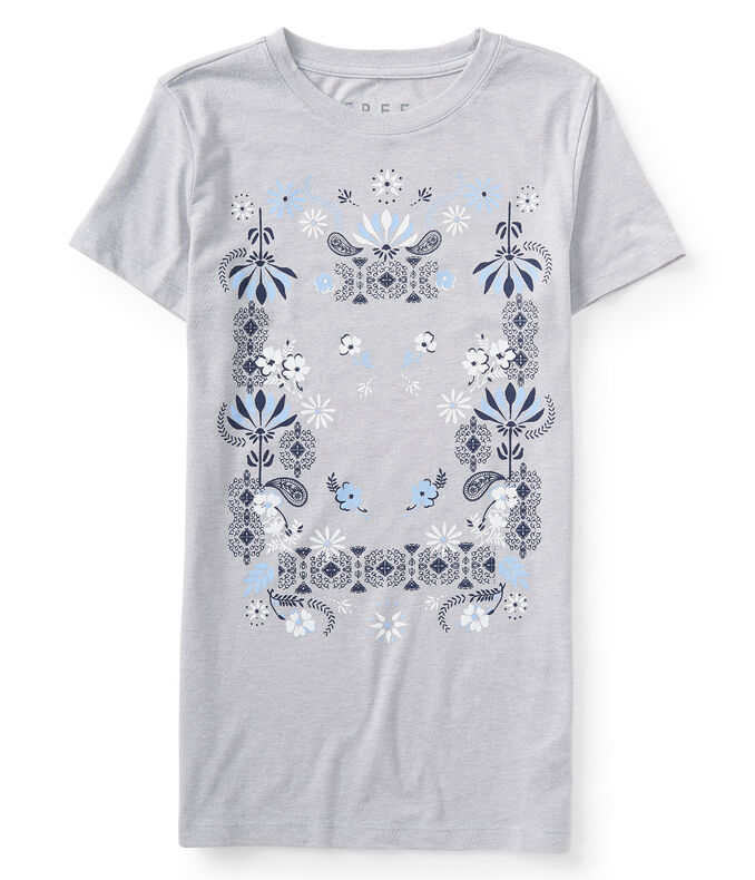 Free State Floral Paisley Graphic Tee