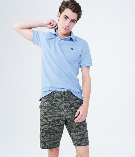 Tiger Camo Stretch Flat-Front Chino Shorts