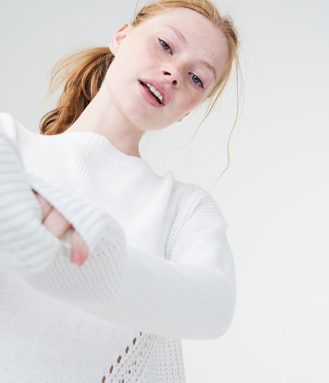 Mixed Pointelle Sweater