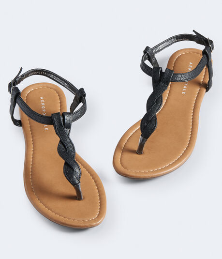 Twisted T-Strap Sandal