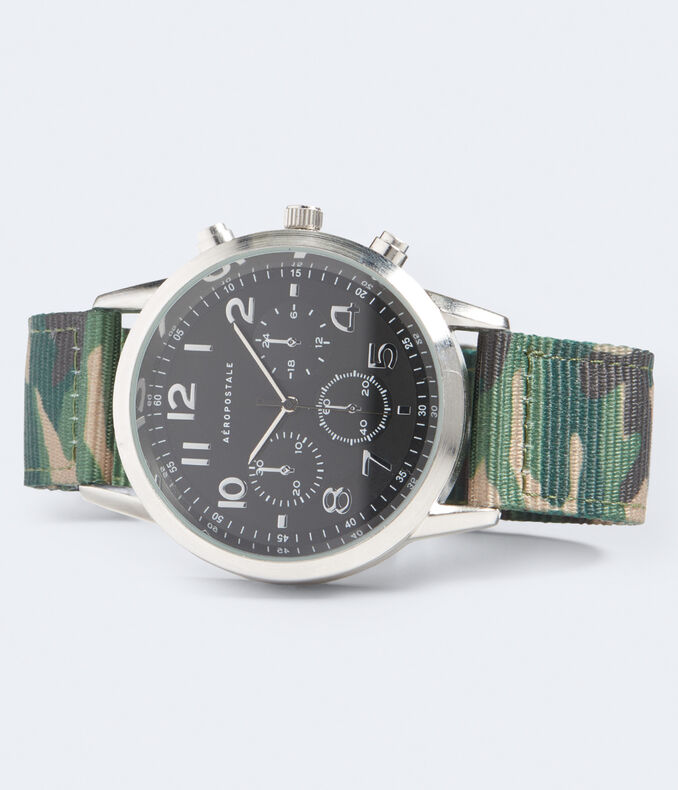 Camo Fabric Analog Watch