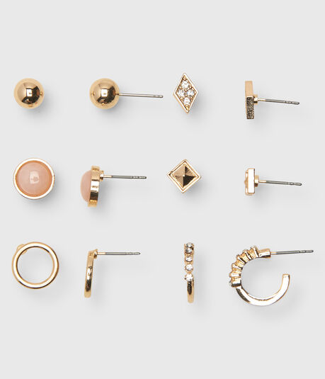 Pyramid Stud Earring 6-Pack